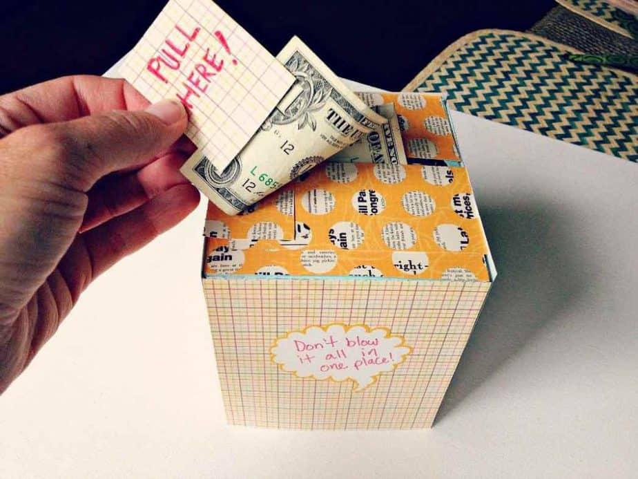 geld cadeau inpakken