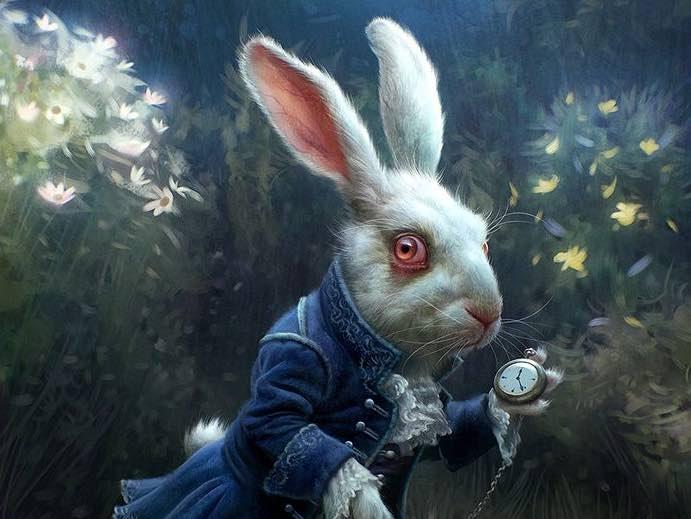 tim burton wit konijn