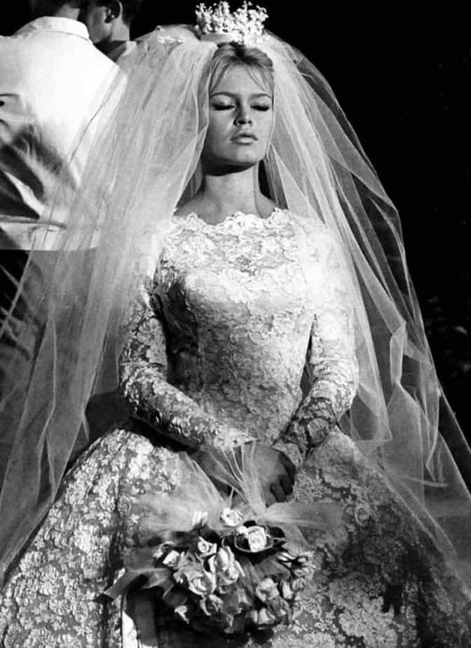 brigitte bardot trouwjurk