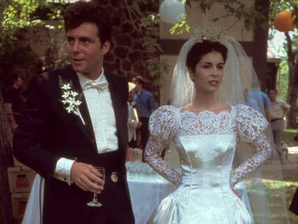 connie corleone trouwjurk