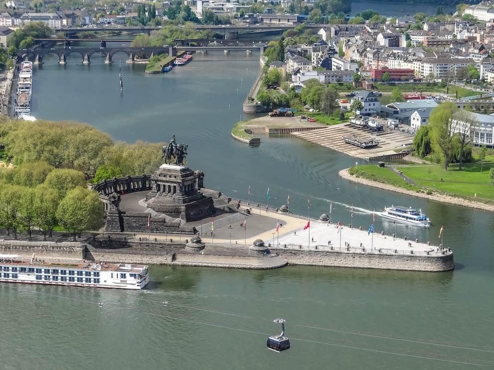 Koblenz gezellige stad Duitsland