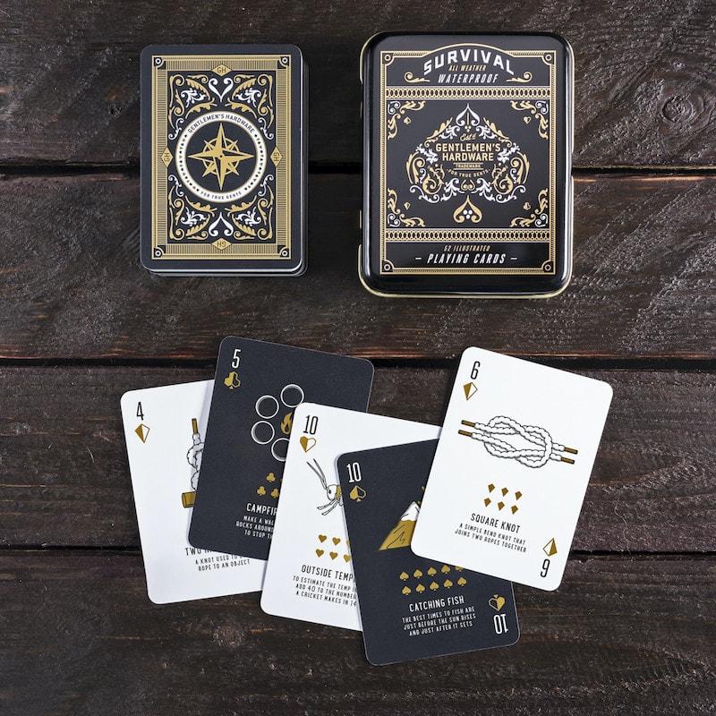 speelkaarten met survivaltips