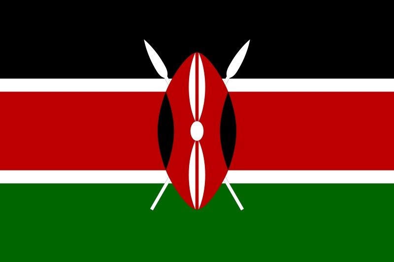 Kenia vlag met schild